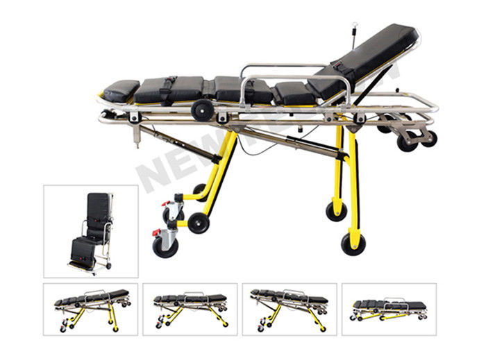 Multi Functional Folding Ambulance Trolley Stretchers Chair For Hospitals