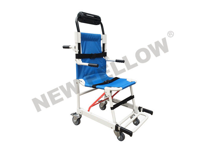 Outdoor Rescue Ambulance Stair Stretcher , Foldable paramedic stretcher with cushion