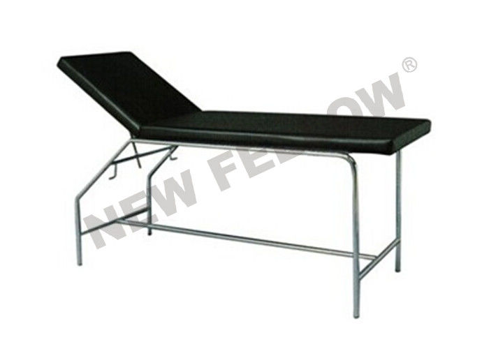 Black Adjustable Round Tube Patient Examination Table ISO9001 / 13485